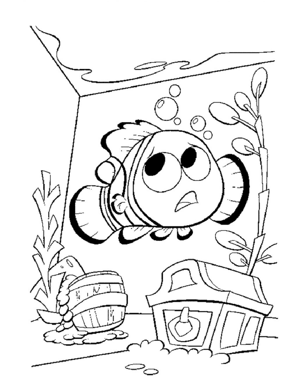 1024x1326 Epic Disney Cartoon Finding Nemo Coloring Pages