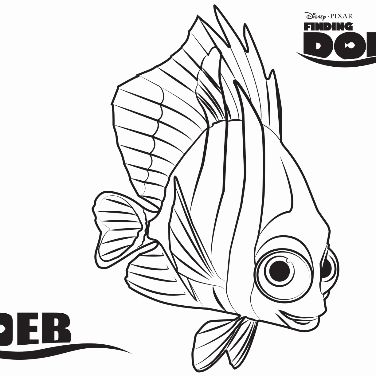 1224x1224 Excellent Finding Nemo Coloring Pages Bruce Professional Disney
