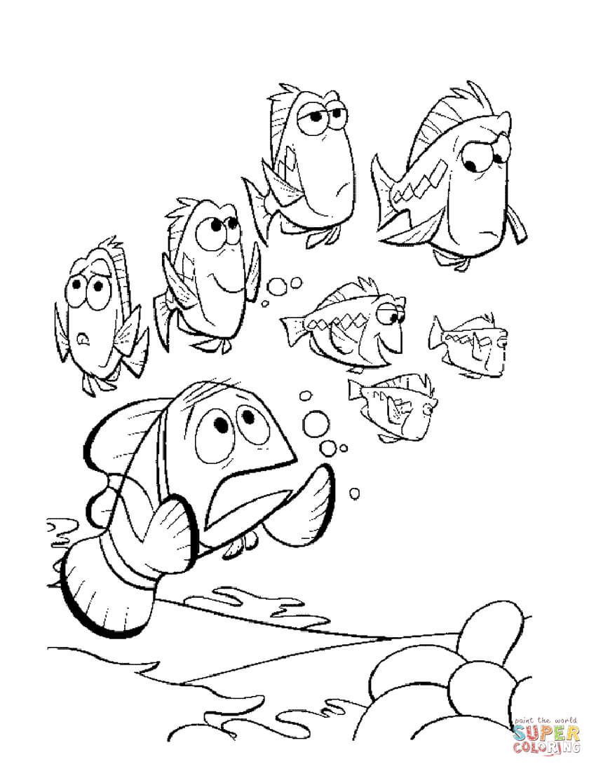 850x1100 Finding Nemo Coloring Pages Finding Dory Dory Nemo Coloring Page