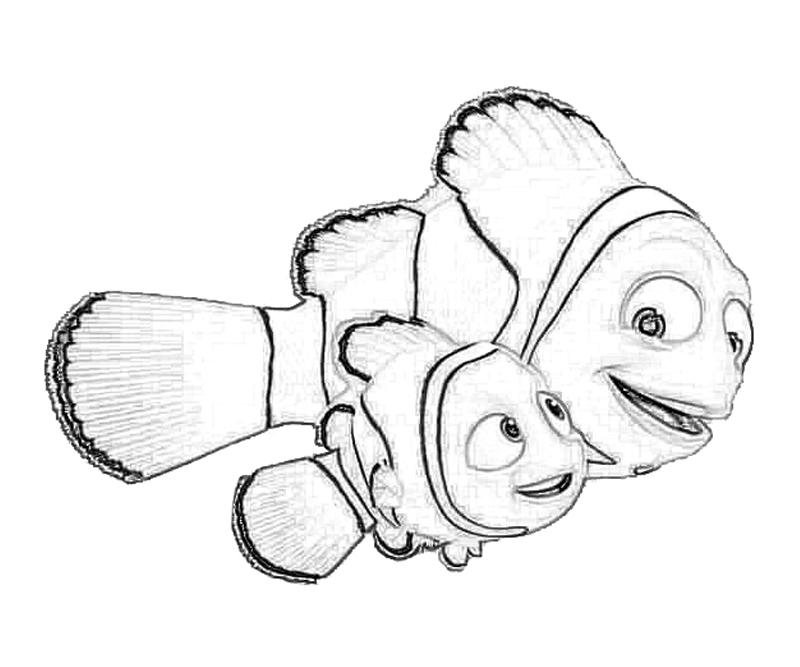 800x667 Finding Nemo Coloring Pages Free