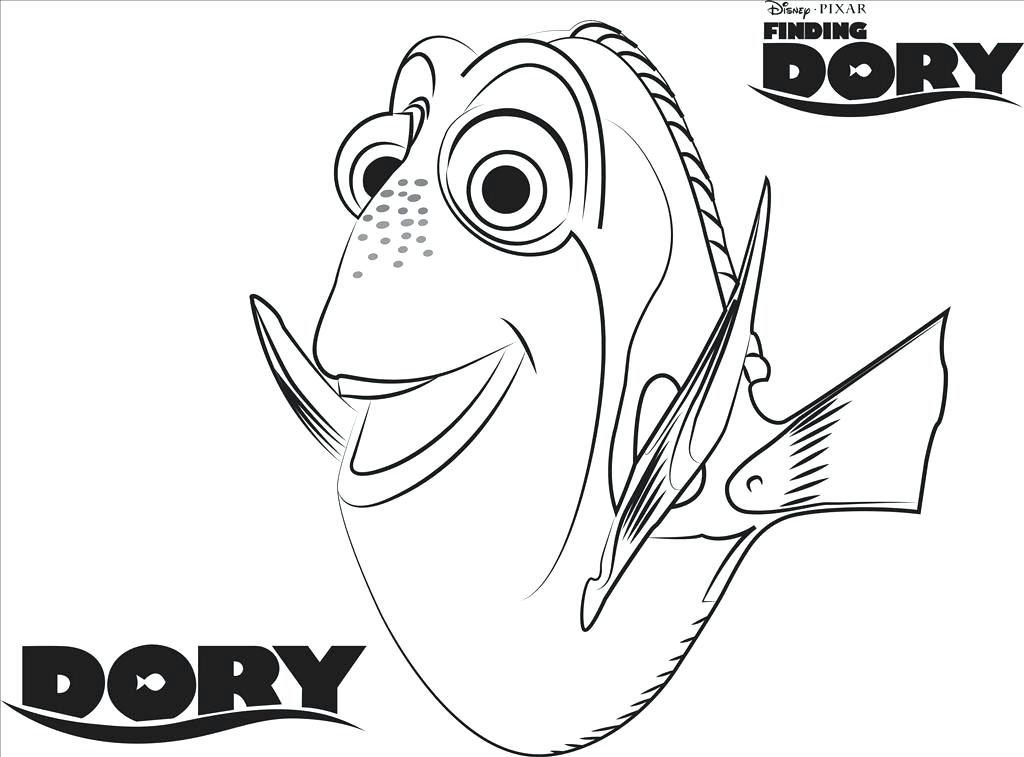 1024x757 Nemo Coloring Pages Finding Color Pages Three Sharks Finding