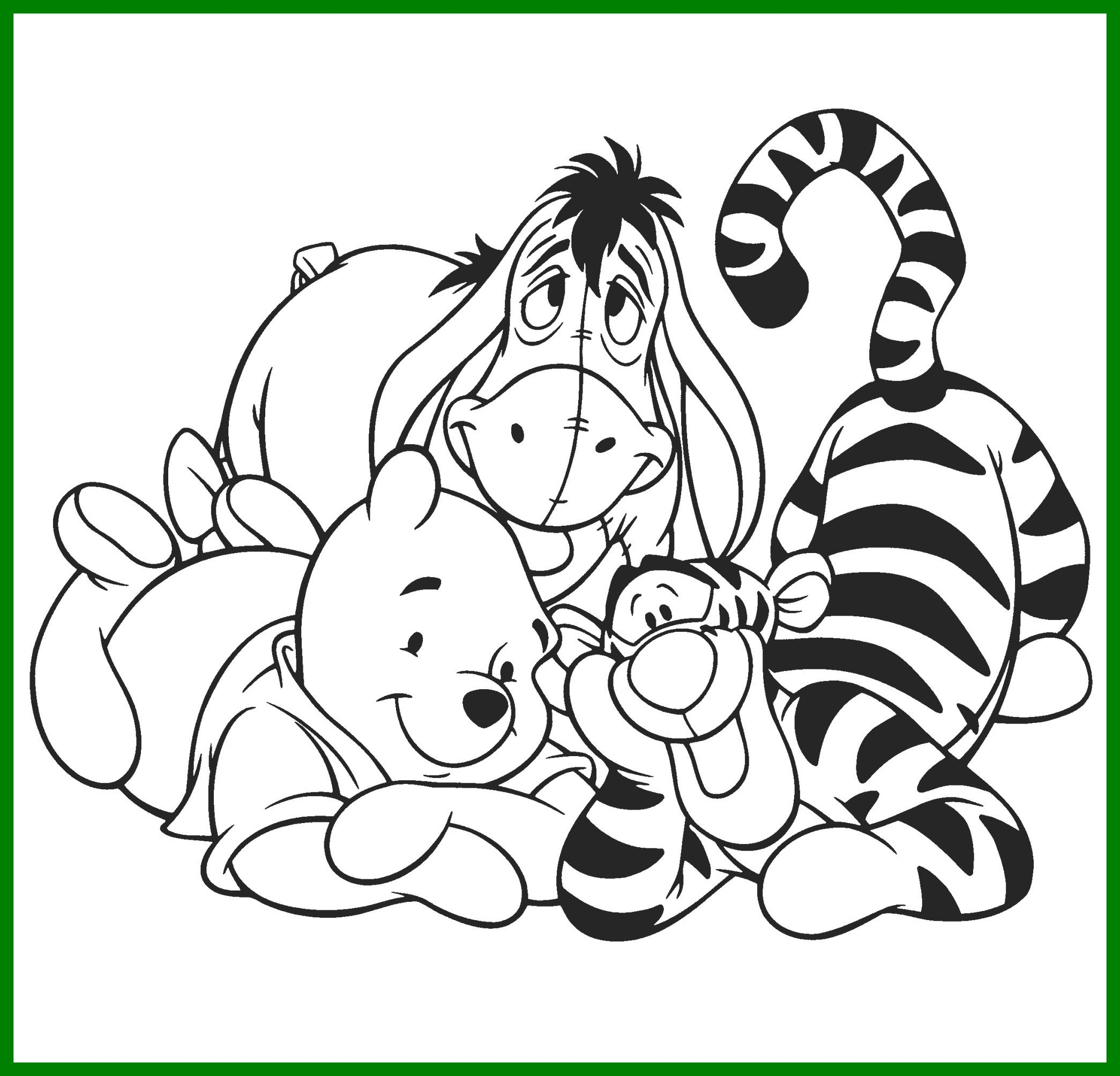 2090x2008 Fascinating Winnie The Pooh U Friends Coloring Pages Disney Book