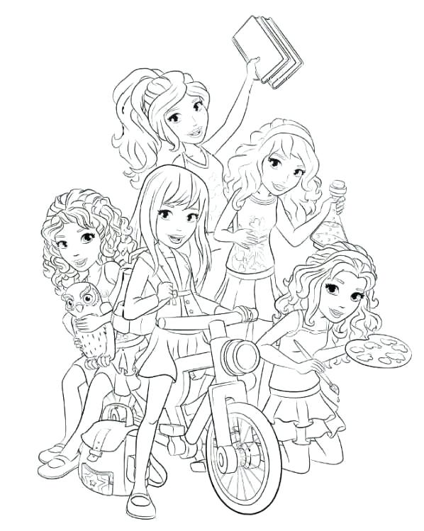 598x749 Lego Friends Coloring Book Coloring Pages Disney Pdf