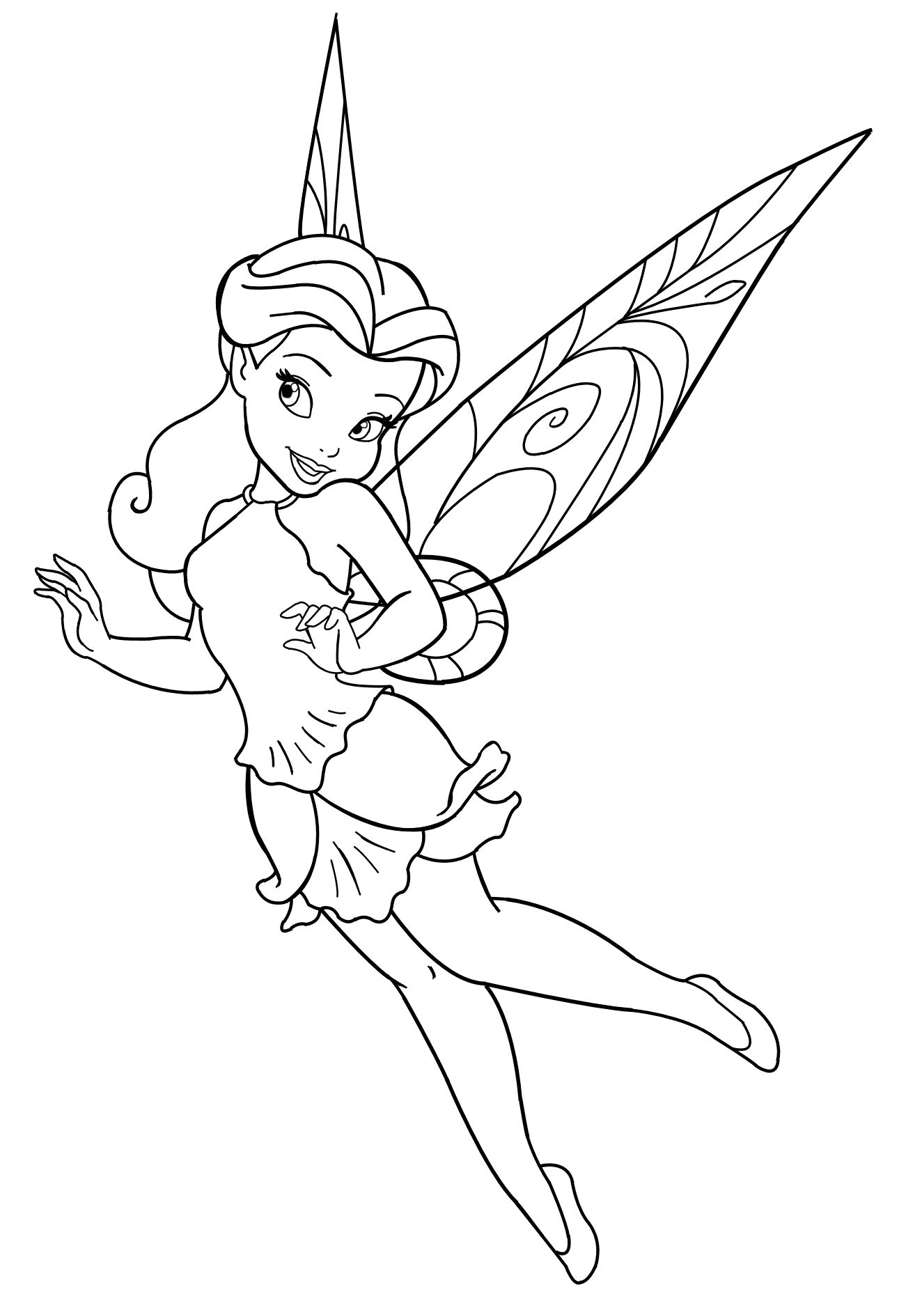 1291x1884 Peter Pan And Tinkerbell Coloring Pages Free Printable Cartoons