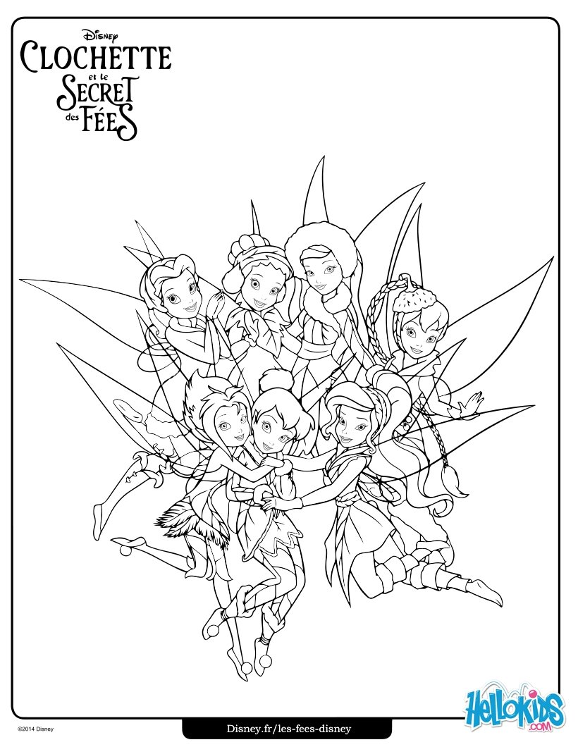 820x1060 Tinker Bell Friends Coloring Pages
