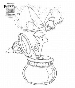 244x286 Tinkerbell And Friends Coloring Pages Disney Cartoon Characters