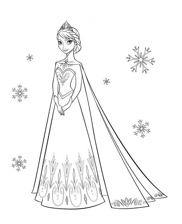 Disney Frozen Coloring Pages Elsa At Getdrawings Com Free