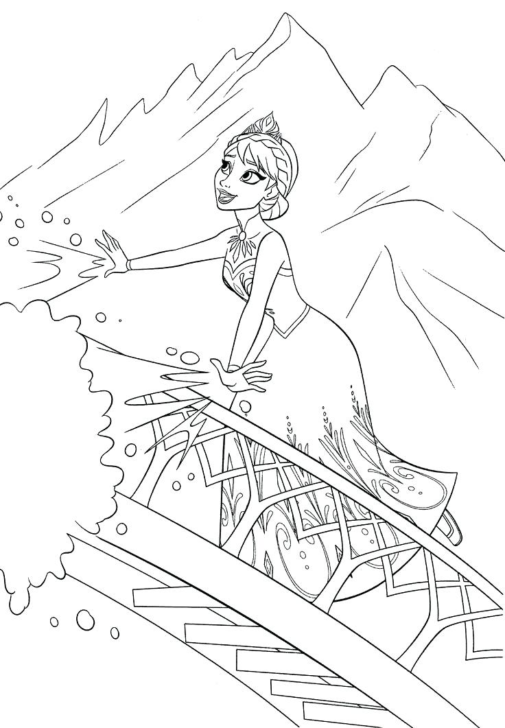 Disney Frozen Elsa Coloring Pages at GetDrawings | Free ...