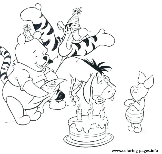 632x600 Happy Birthday Color Page Happy Birthday Coloring Pages For Aunt