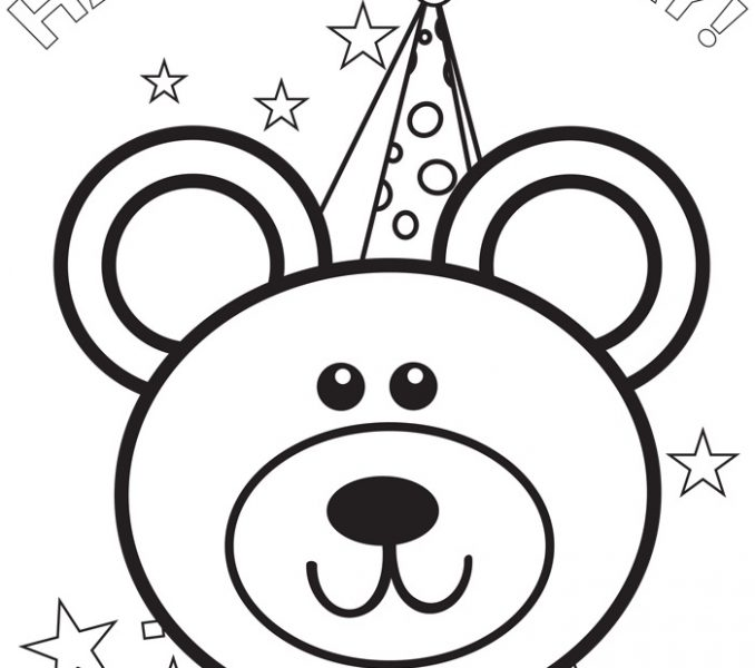 678x600 Birthday Pictures To Colour Free Printable Happy Birthday Coloring