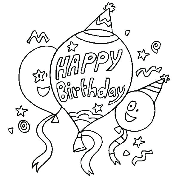 600x600 Disney Birthday Coloring Pages Happy Birthday Coloring Sheet Happy