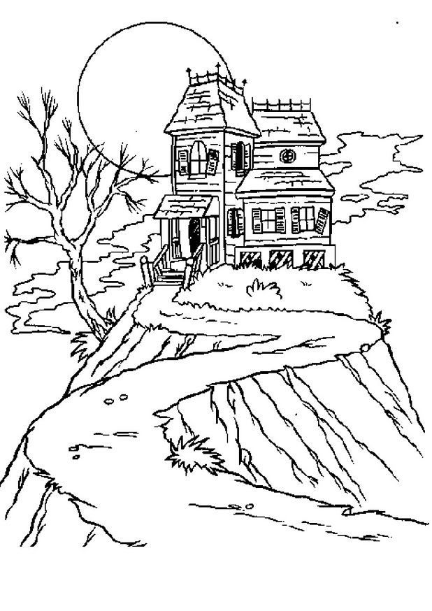 Disney Haunted Mansion Coloring Pages