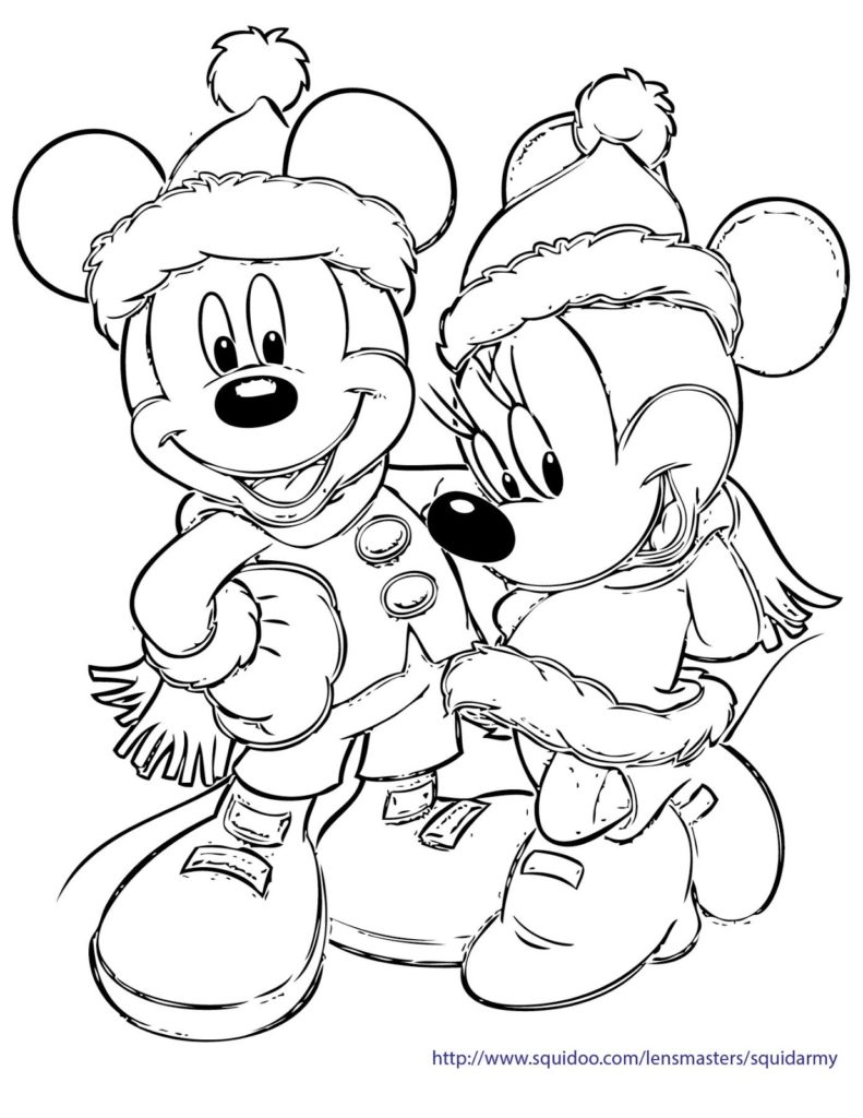791x1024 Free Christmas Coloring Pages Of Disney Characters Cooloring