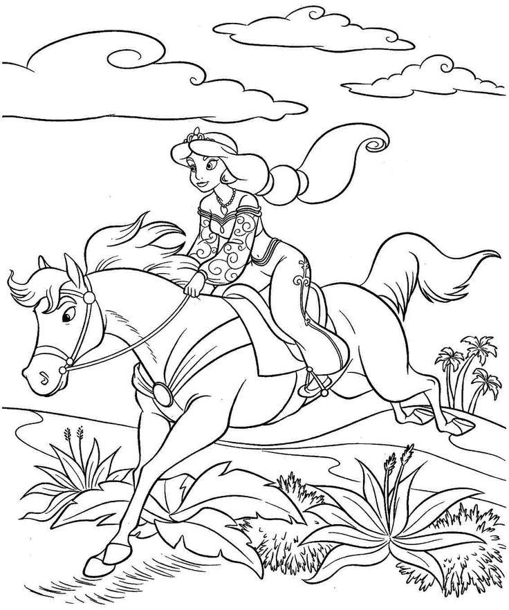 Disney Horse Coloring Pages