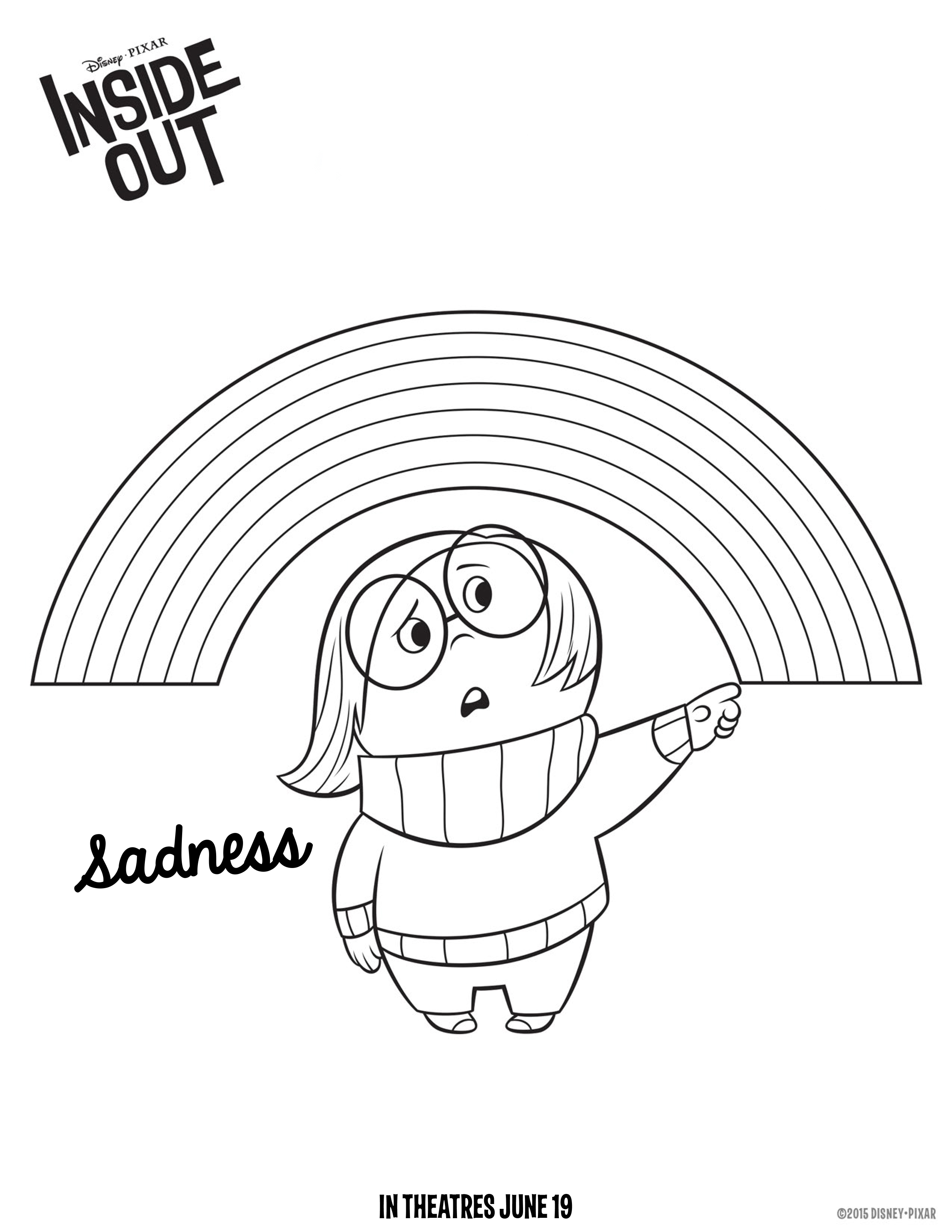 2550x3300 Disney S Inside Out Coloring Pages Sadness And Also