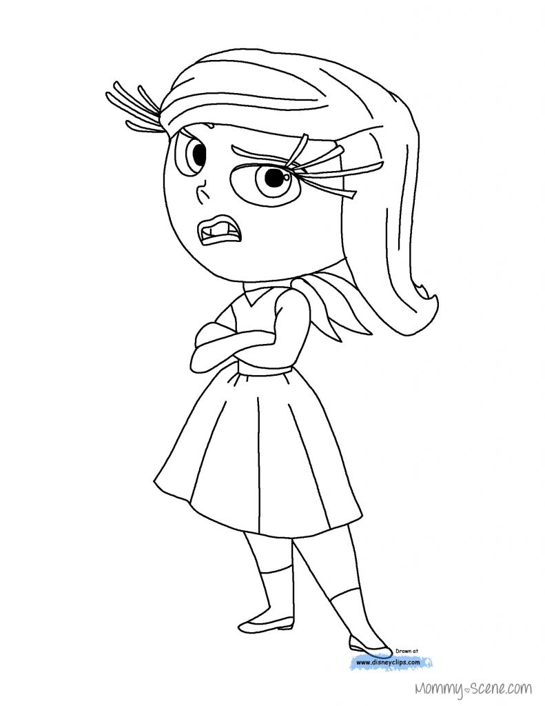 791x1024 Inside Out Coloring Pages Disgust