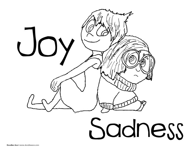 792x612 Inside Out Coloring Sheets! Joy And Sadness!