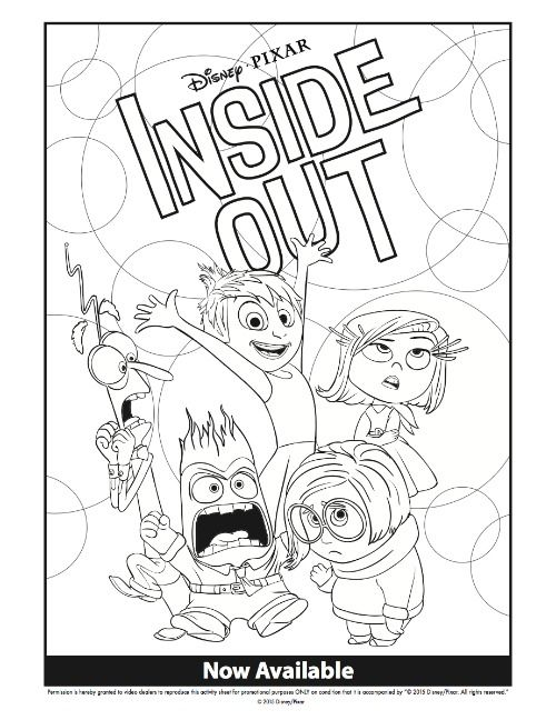 500x648 Disney Inside Out Coloring Pages Family Movie