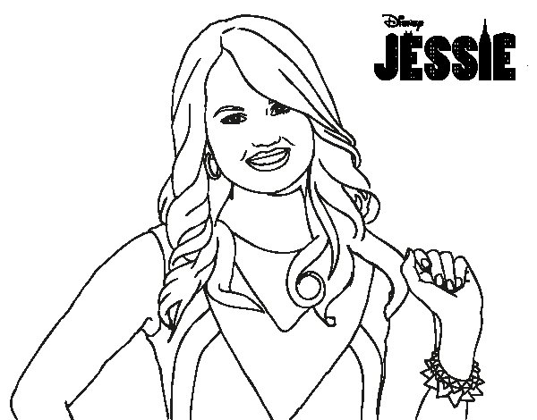 600x470 Disney Channel Coloring Pages Disney Channel Jessie Coloring Pages