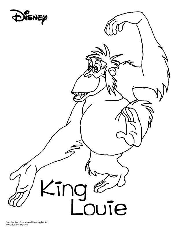 612x792 Best Disney Jungle Book Coloring Pages Disney Images