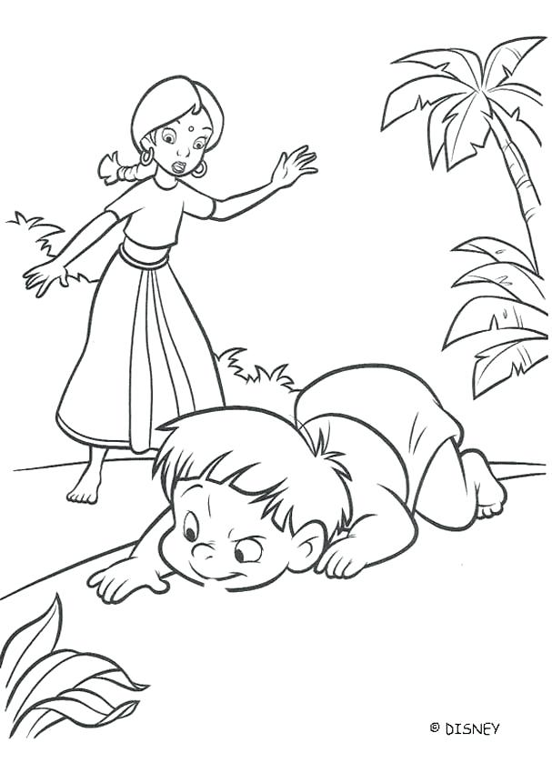 607x850 Jungle Book Coloring Page The Black Panther Is Angry The Jungle