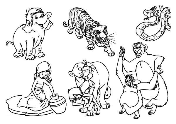 600x424 Jungle Book Coloring Pages