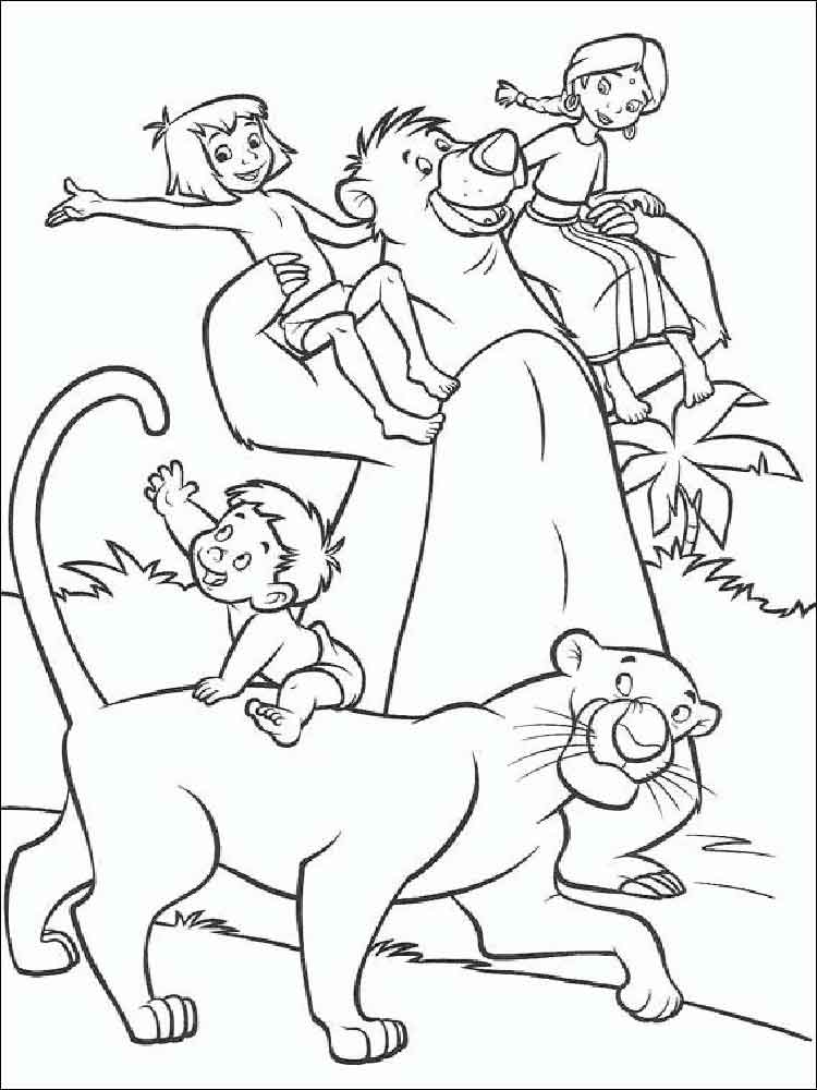 750x1000 Jungle Book Coloring Pages Download And Print Jungle Book