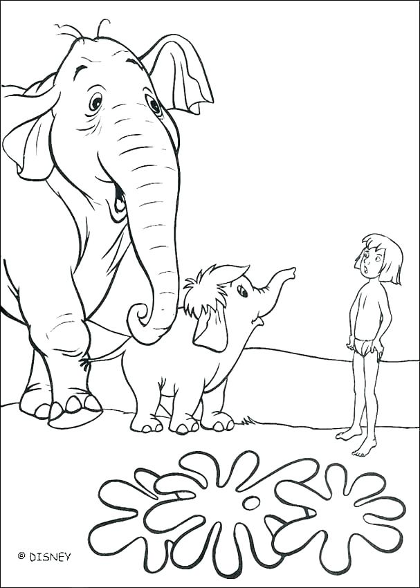 607x850 The Jungle Book Coloring Pages Jungle Book Colouring Pages Games