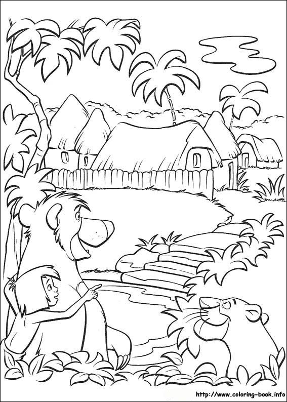 567x794 Best Jungle Book Disney Coloring Pages Images