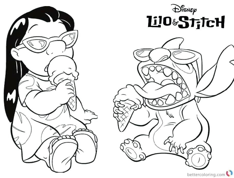 disney lilo and stitch coloring pages 10