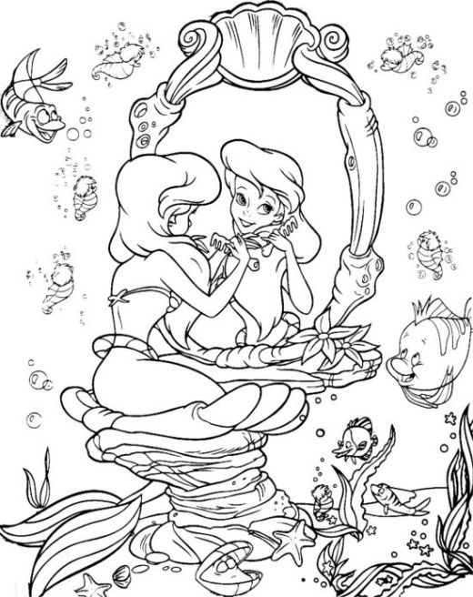 Disney Little Mermaid Coloring Pages