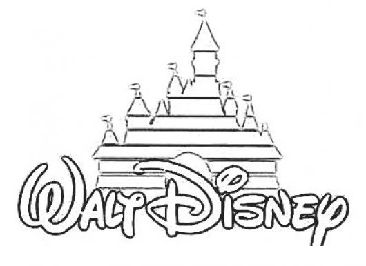Disney Logo Coloring Pages At Getdrawings Com Free For