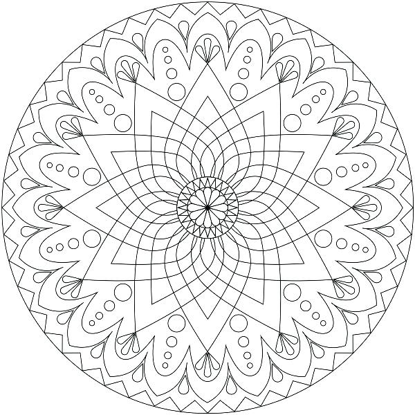 600x600 Coloring Pages For Kids Disney Picture Mandala Printable