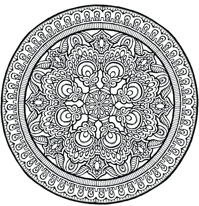 650x673 Coloring Pages Mandala Designs Flower Mandala Coloring Pages