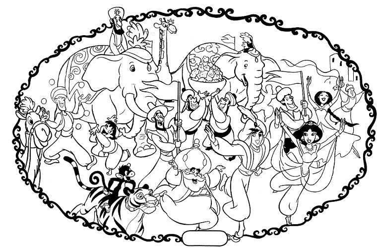 764x500 Disney Coloring Pages