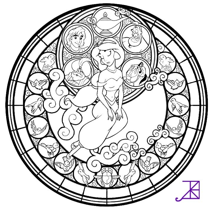 720x720 Disney Mandala Coloring Book Free