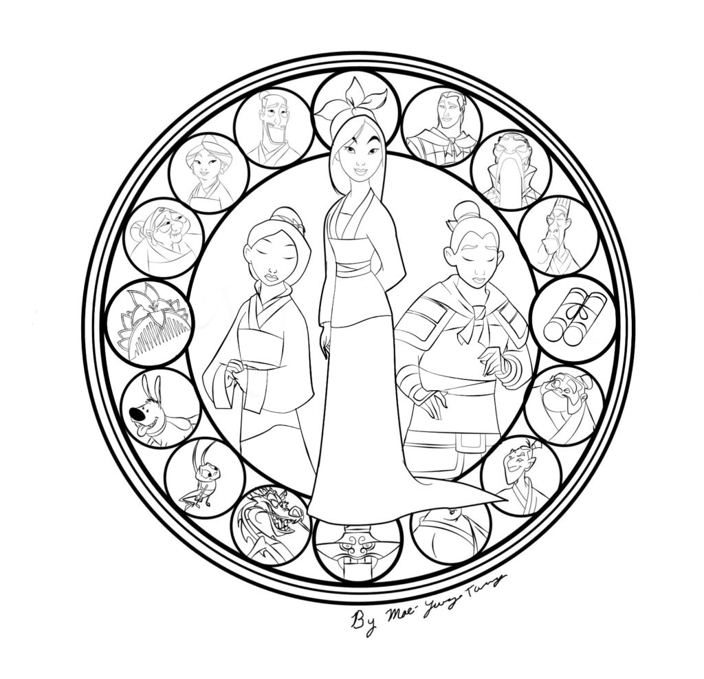 1024x987 Images About Printables On Mulan, Coloring Pages