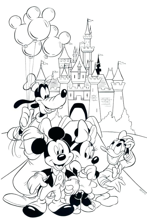 615x923 Disney World Coloring Pictures World Coloring Pages Page Medium