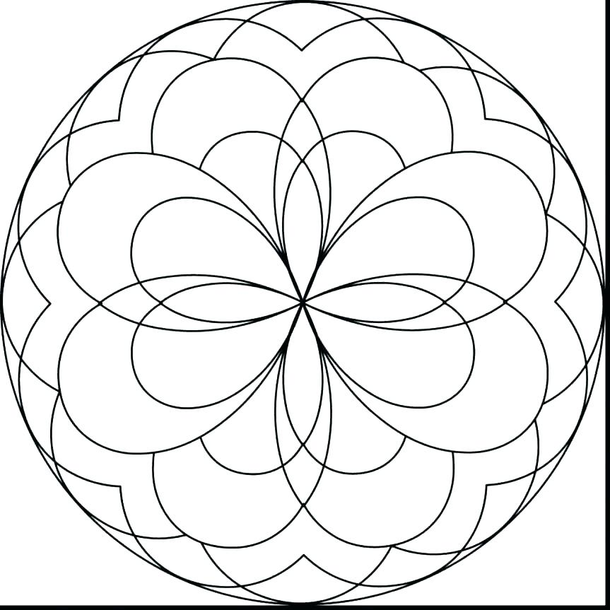863x863 Easy Mandala Coloring Pages Printable Easy Coloring Sheets S Easy
