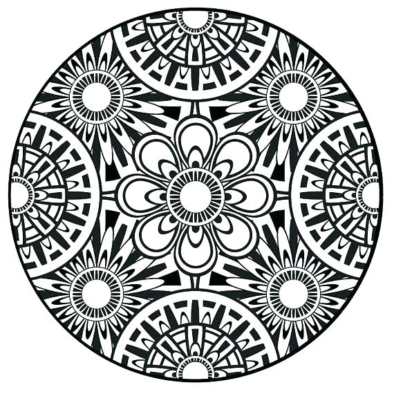 570x570 Mandala Coloring Pages Kids Pretentious Idea Adult Mandala