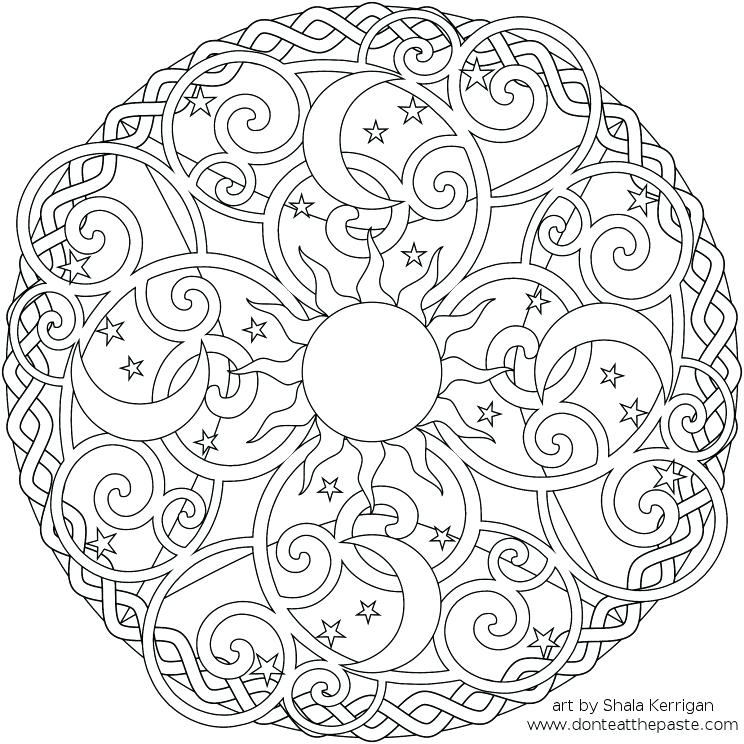 744x744 Mandala Coloring Pages Printable Free Kids Free Mandala Coloring