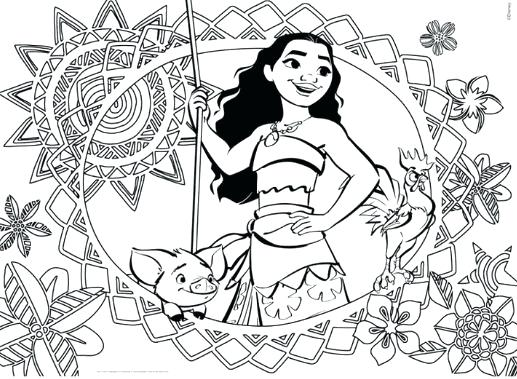 517x379 Moana Coloring Pages Maui Disney