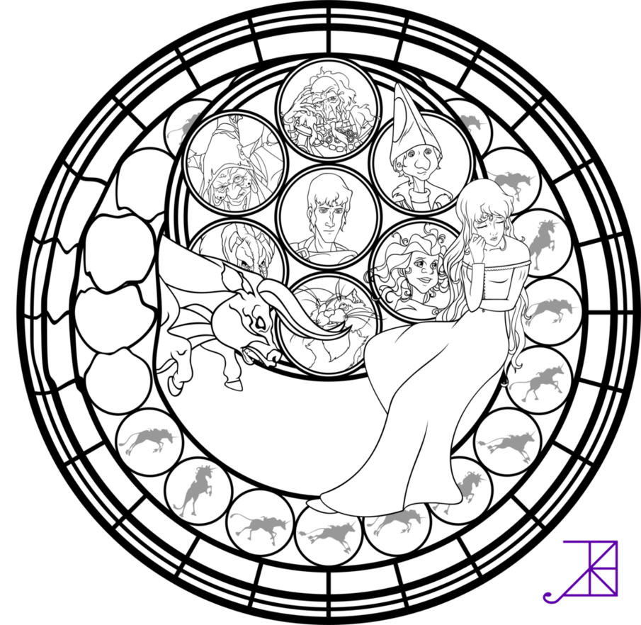 905x882 Stained Glass Coloring Pages
