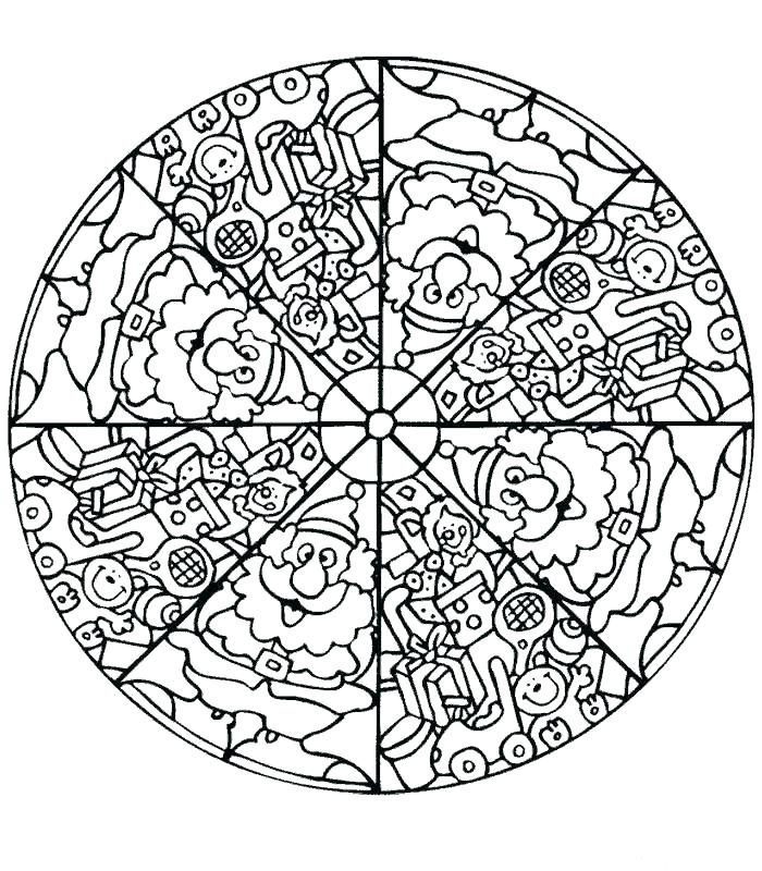 700x800 Complex Mandala Coloring Pages