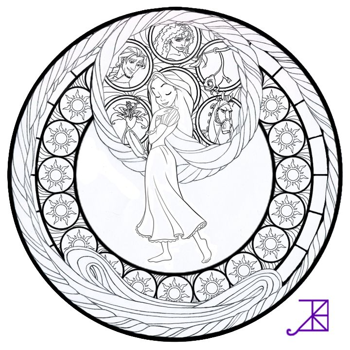 720x720 Best Disney Stained Glass Images On Coloring Book