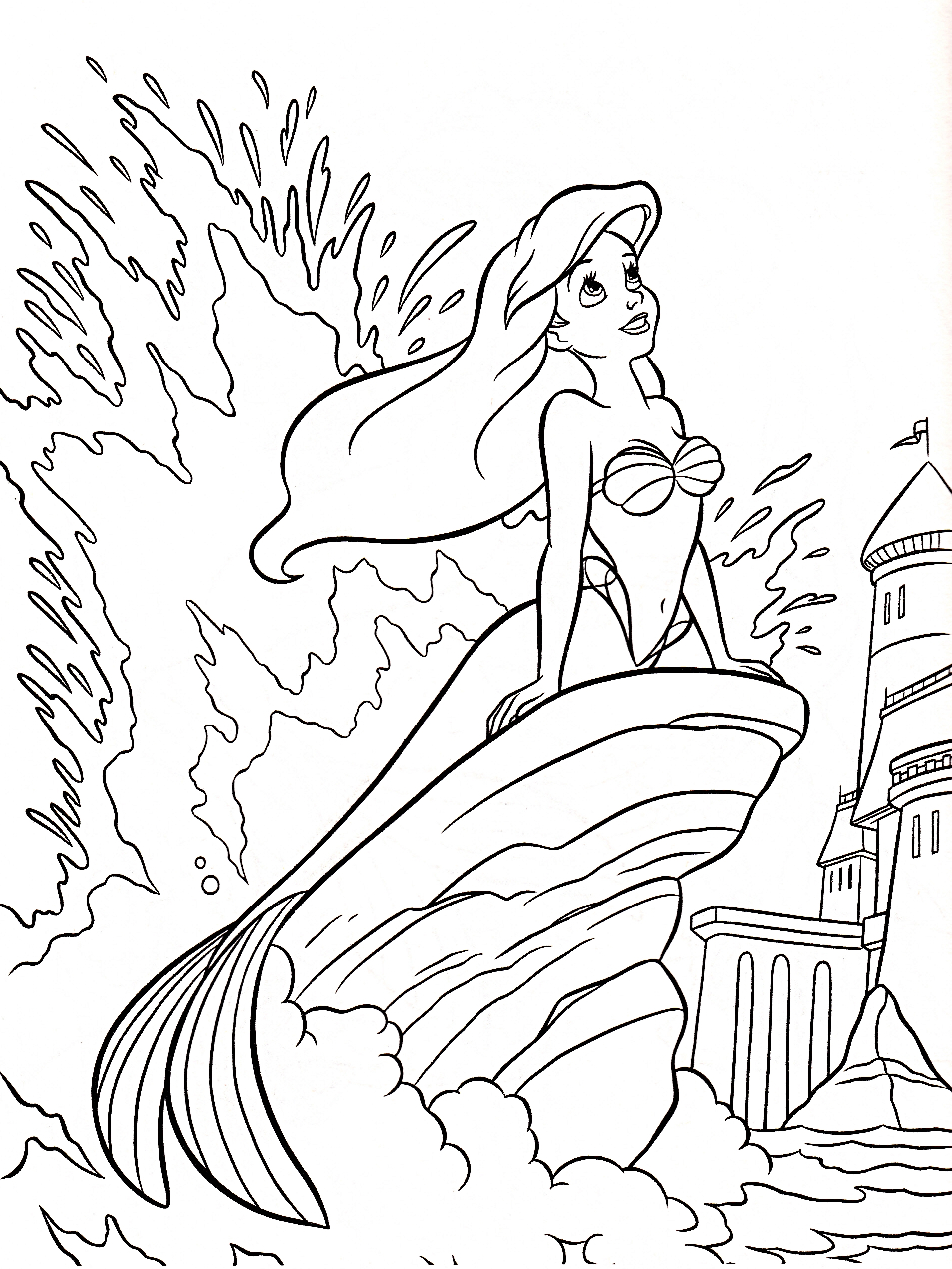 1910x2545 A Is For Ariel Color Page Ariel Coloring Page The Little Mermaid