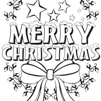 350x350 Merry Christmas Coloring Pages For Kids Merry Christmas