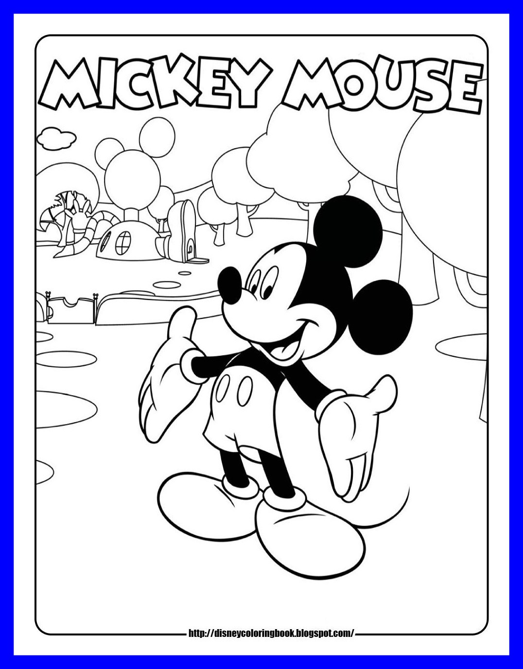 Disney Mickey Coloring Pages At Getdrawings Free Download