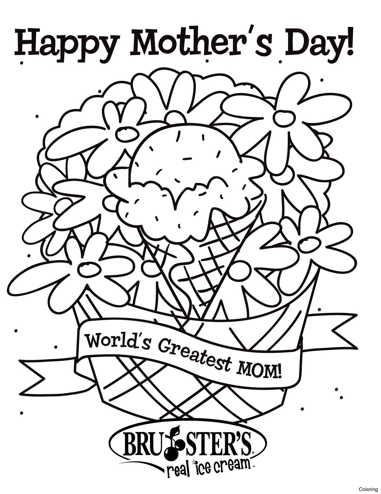 1275x1650 Happy Mothers Day Coloring Page Pages Bahai Disney Diaiz Inside