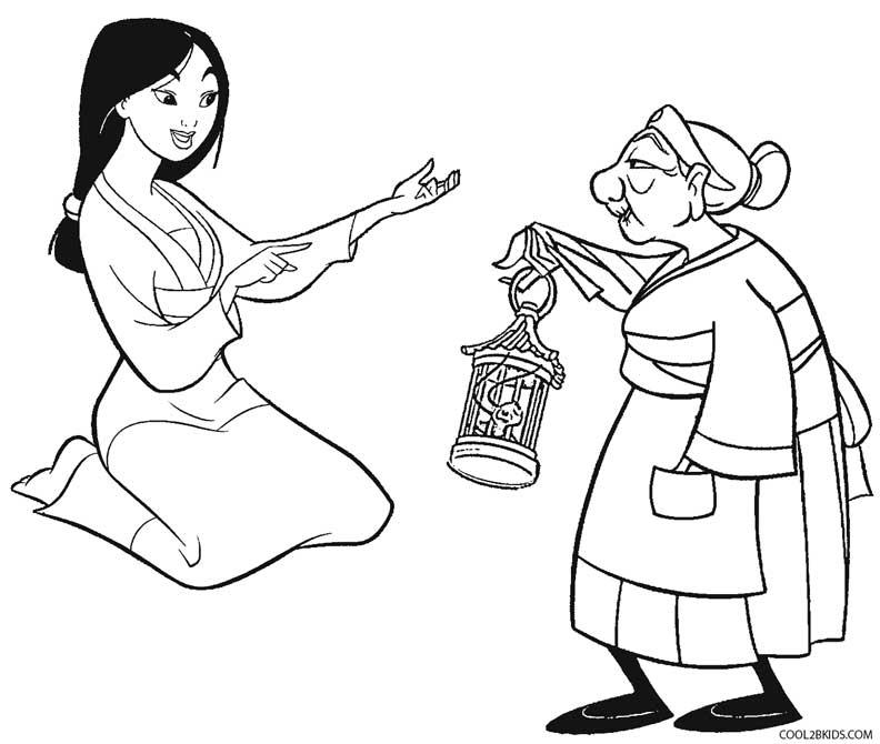 Disney Mulan Coloring Pages